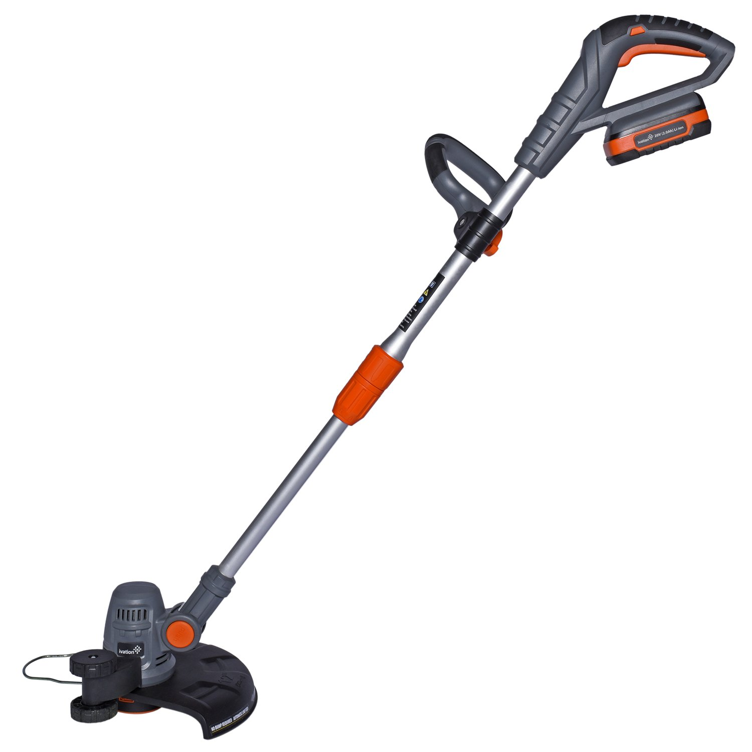 Ivation 20V 2.0AH Cordless Grass String Trimmer & Edger – Easy Feed - Includes Extra Battery Pack for Easy Cord-Free Trimming & Lawn Edging IVAGT20V