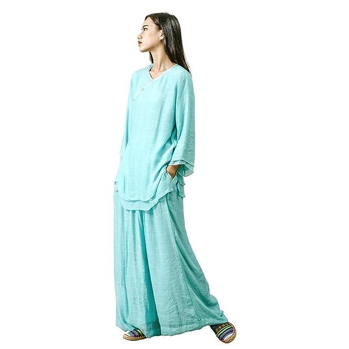 Amazon.com: KSUA - Ropa de tai chi para mujer Zen Meditation ...