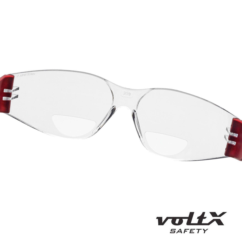 Safety Reading Lente UV400 con recubrimiento antivaho AHUMADO//GRIS dioptr/ía +1.0 Lentes de lectura de seguridad industrial bifocales voltX /'GRAFTER/' Certificado CE EN166F // Gafas de Ciclismo