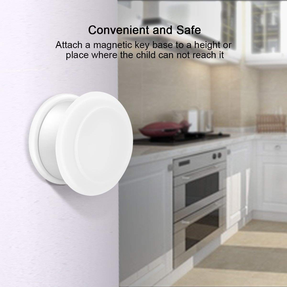 Baby Proofing Magnetic Child Safety Locks for Cabinet Cupboard Drawer Doors 20 Locks 3 Keys by ITOOL (Image #3)