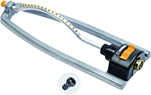 Melnor 65079-AMZ Metal Oscillating Sprinkler with QuickConnectProduct Adapter Watering Set, 3600 sq. ft. Coverage