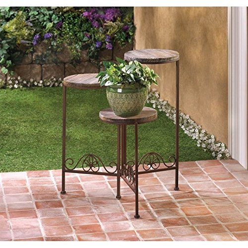 Zingz and Thingz Rustic Triple Planter Stand Plant Potting Bench .sell#(homesquarecom_109142047524518 by Jonyandwater