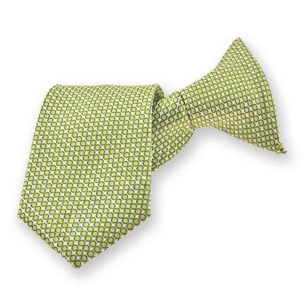 8 Length TieMart Boys Apple Green Henry Grain Pattern Clip-On Tie