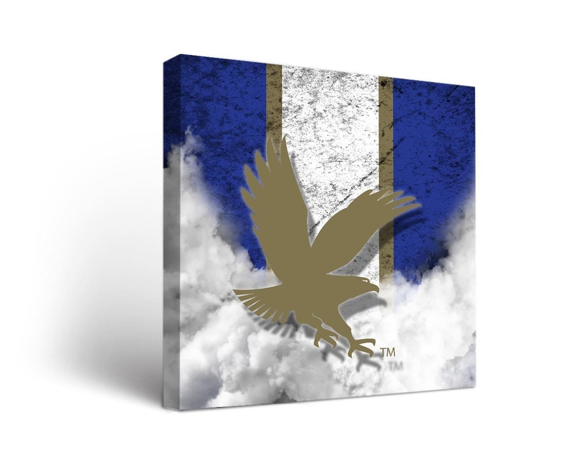 Embry-Riddle Worldwide Eagles Canvas Wall Art Vintage Design Victory Tailgate