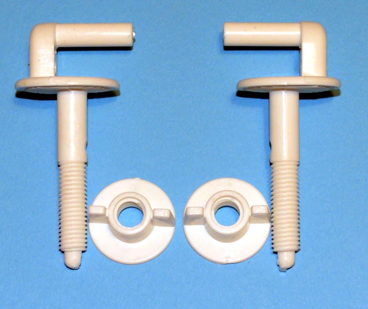 2 Toilet Seat 8.5cm L- Shape Plastic Hinges A5 Set Bath Bathroom ...