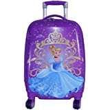 """Texas USA Polycarbonate 22"""" Purple / Printed Hard Sided Children's Luggage"""