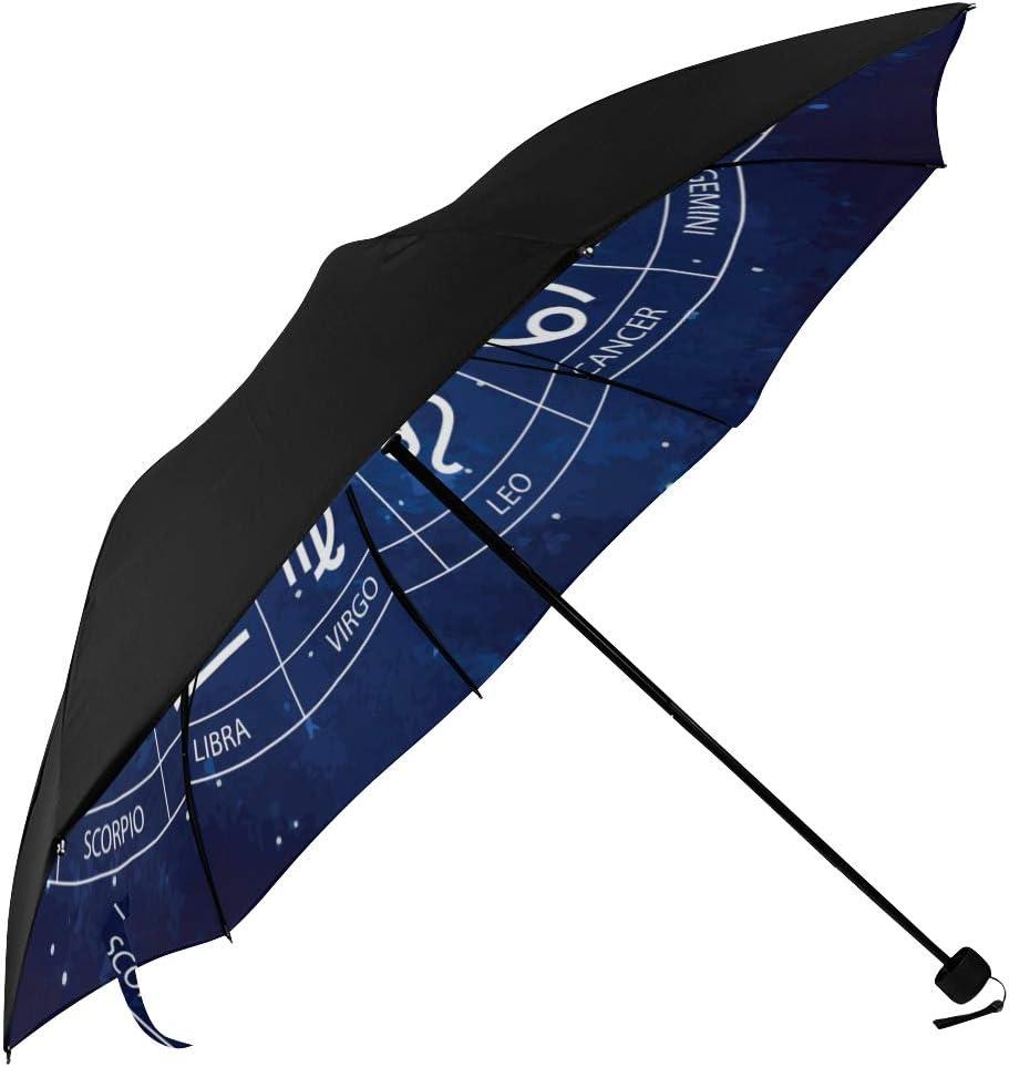 Travel Umbrellas For Women Zodiac Sign Zodiac Sign Virgo Underside Printing Compact Umbrella Cute Foldable Umbrella Large With 95 Uv Protection For Women Men Lady Girl