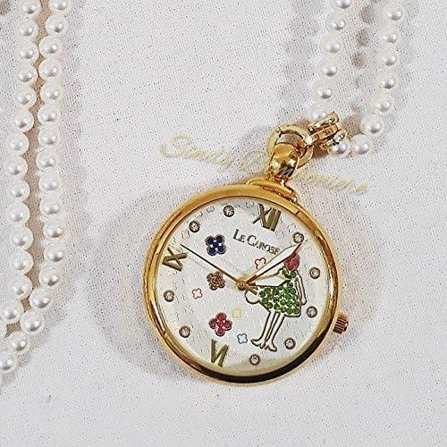 Collana di madreperla con orologio cipolla Le carose