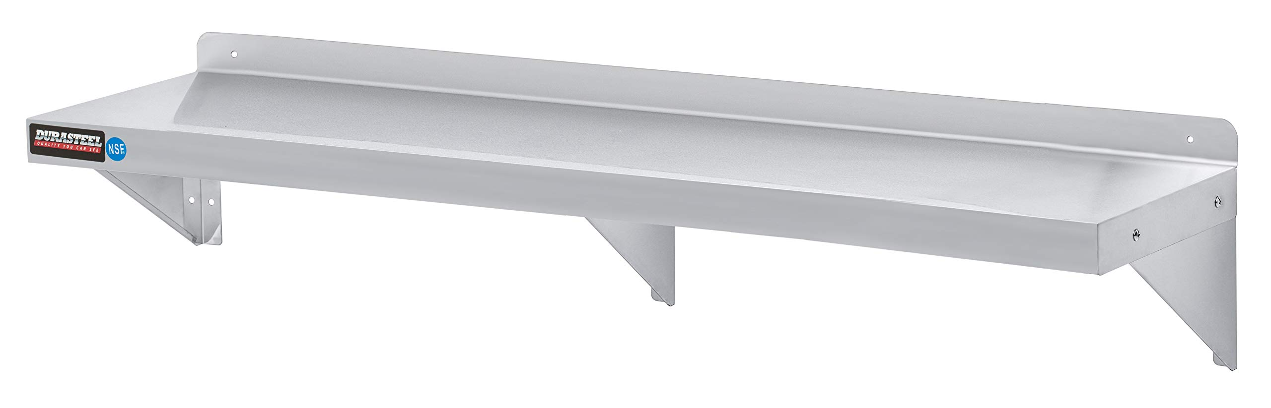 DuraSteel Stainless Steel Wall Shelf 72'' Wide x 12'' Deep Commercial Grade - NSF Approved - Industrial Appliance Equipment (Restaurant, Bar, Home, Kitchen, Laundry, Garage and Utility Room)