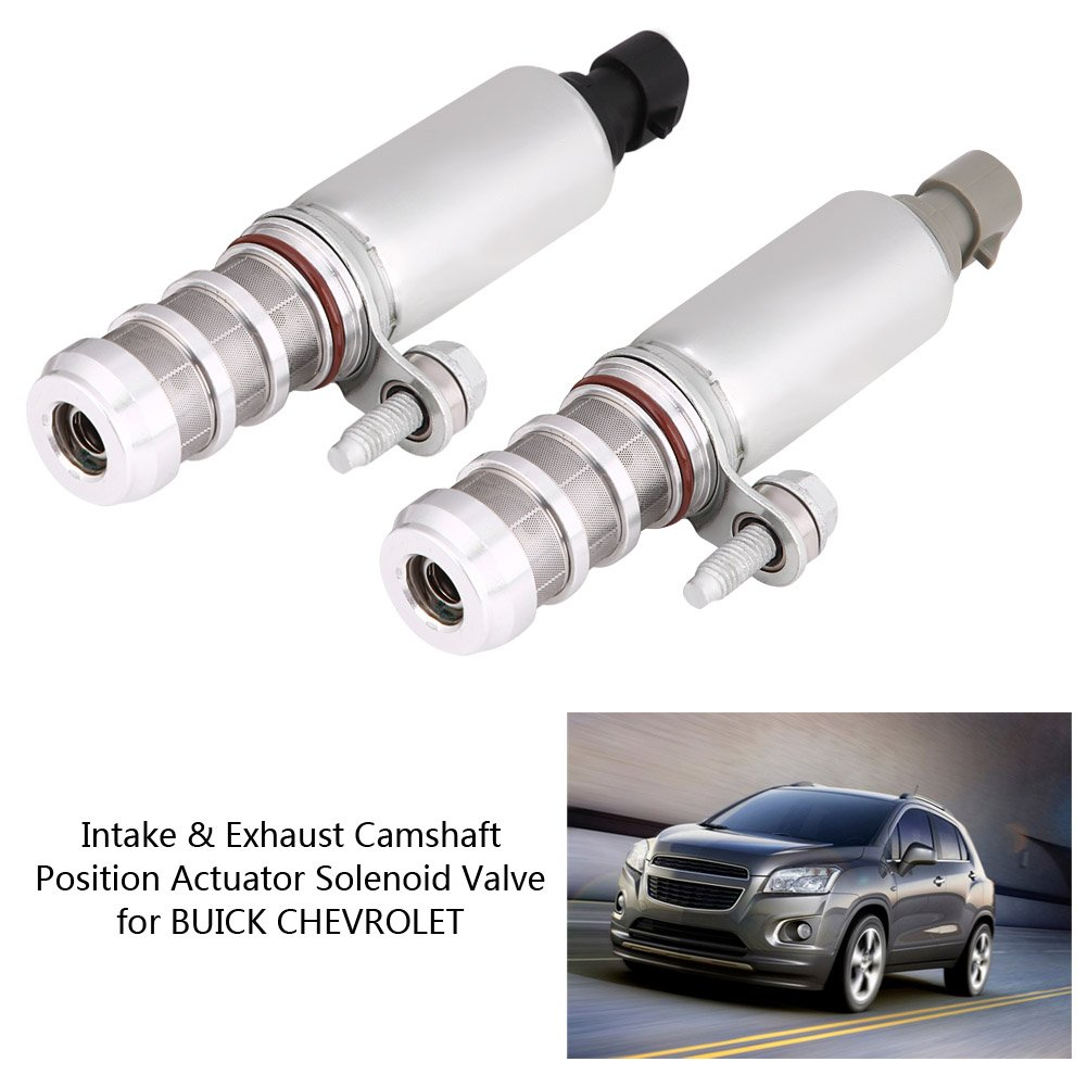 1 Pair Camshaft Position Valve,Intake /& Exhaust Camshaft Position Actuator Solenoid Contral Valve Replace for GMC BUICK CHEVROLET 12655420 12655421