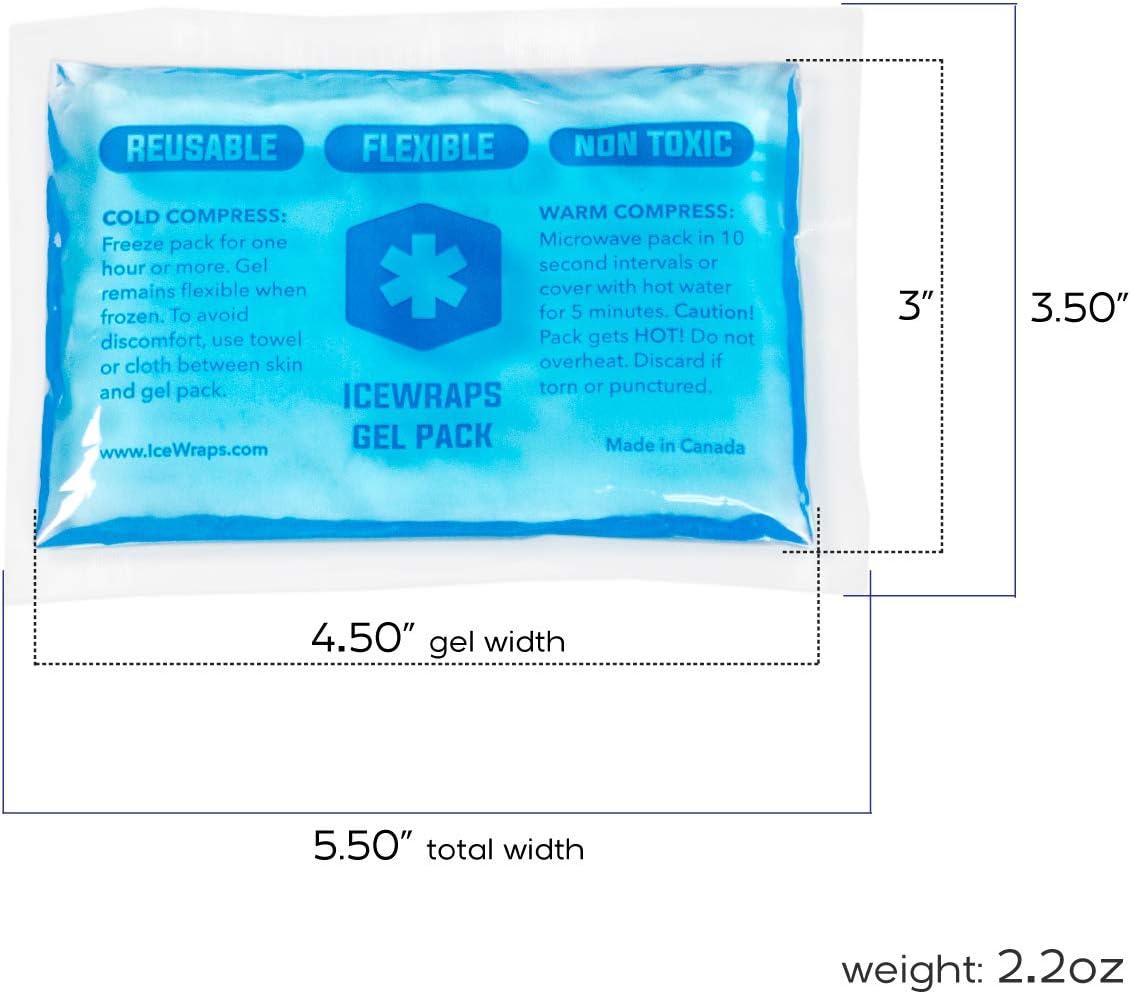 IceWraps 3 x 5 Gel Pack reutilizable caliente o frío paquetes de ...