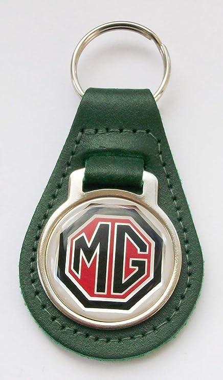 Desconocido MG - Llavero de Piel Verde y acrílico: Amazon.es ...