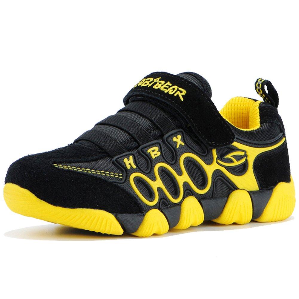 HOBIBEAR Boys Running Sneakers Hook and Loop Girls Light Weight Sport Shoes A597