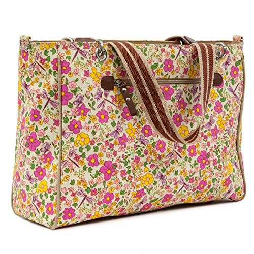 (Pink Lining Bramley Tote Bag, Cottage Garden)