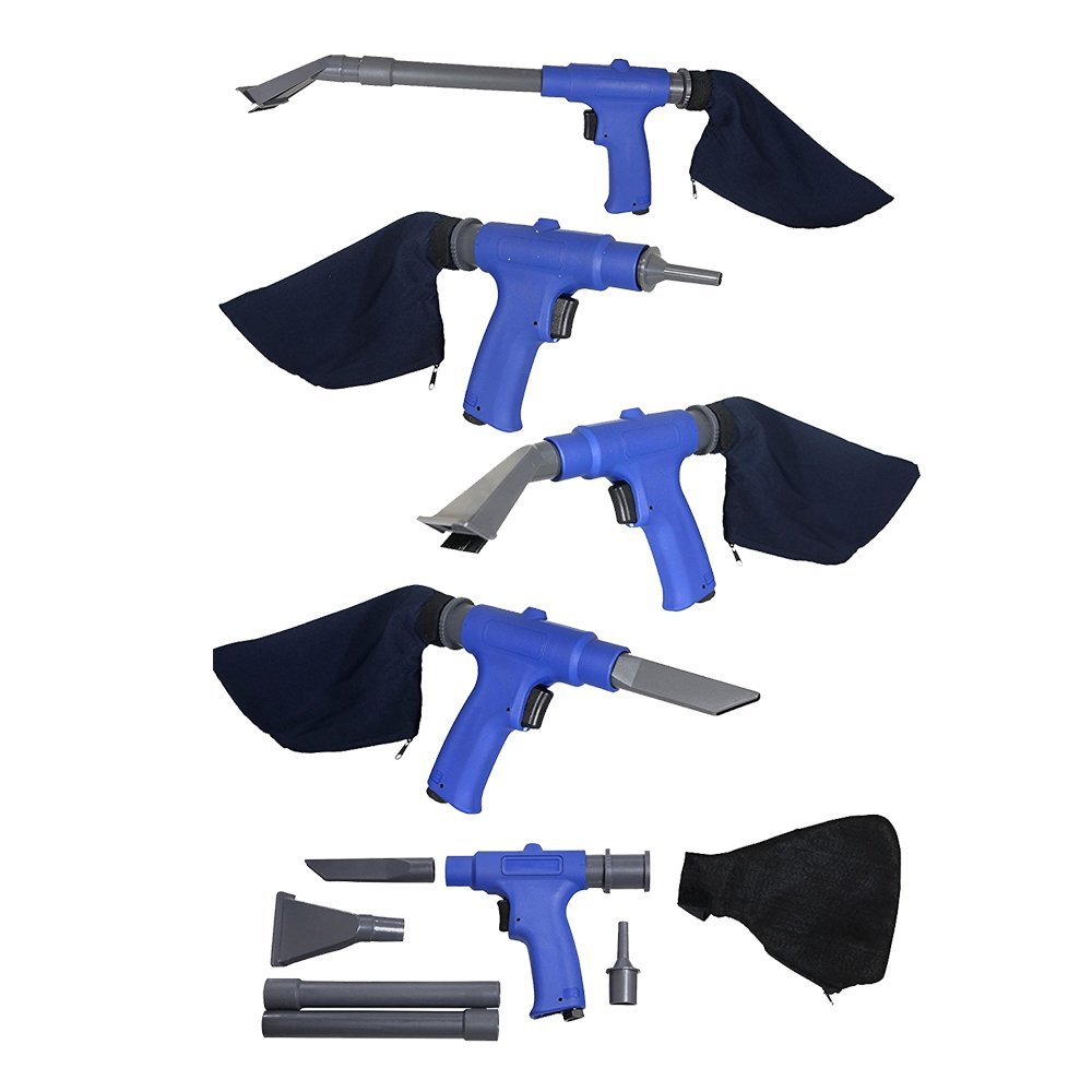 Air Vacuum Blow Gun. Pneumatic Air Suction Blow Gun Kit Includes 6 Specialty Attachments For All Cleaning Jobs. Wet or Dry. Air compressor Accessories by Lematec. Ubiquitous