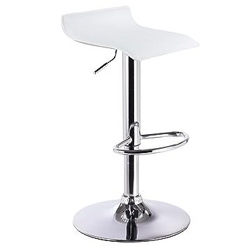 WOLTU 1 x Tabouret de bar design en similicuir,tabouret anti-dérapante,Blanc c6d3ff31214e