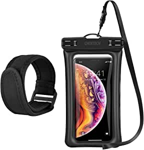 Floating Waterproof Case, CHOETECH Cellphone Waterproof with Armband &Neck Strap Compatible with iPhone Xs Max,Xs, iPhone X, 8, 8 Plus, 7,7 Plus,6s, 6s Plus, Samsung Galaxy S9, S8, S7 and Devices Up to 6.5 in