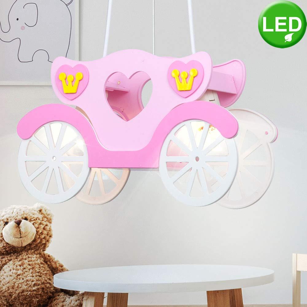 LED 19 Watt Watt Watt Kinder Deckenleuchte Mädchen Hängeleuchte rosa Prinzessinnenkutsche Kinderzimmer 17c95b