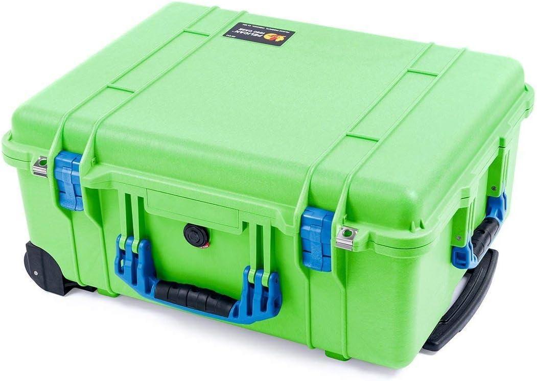 Lime Green /& Blue Pelican 1560 case with Foam.