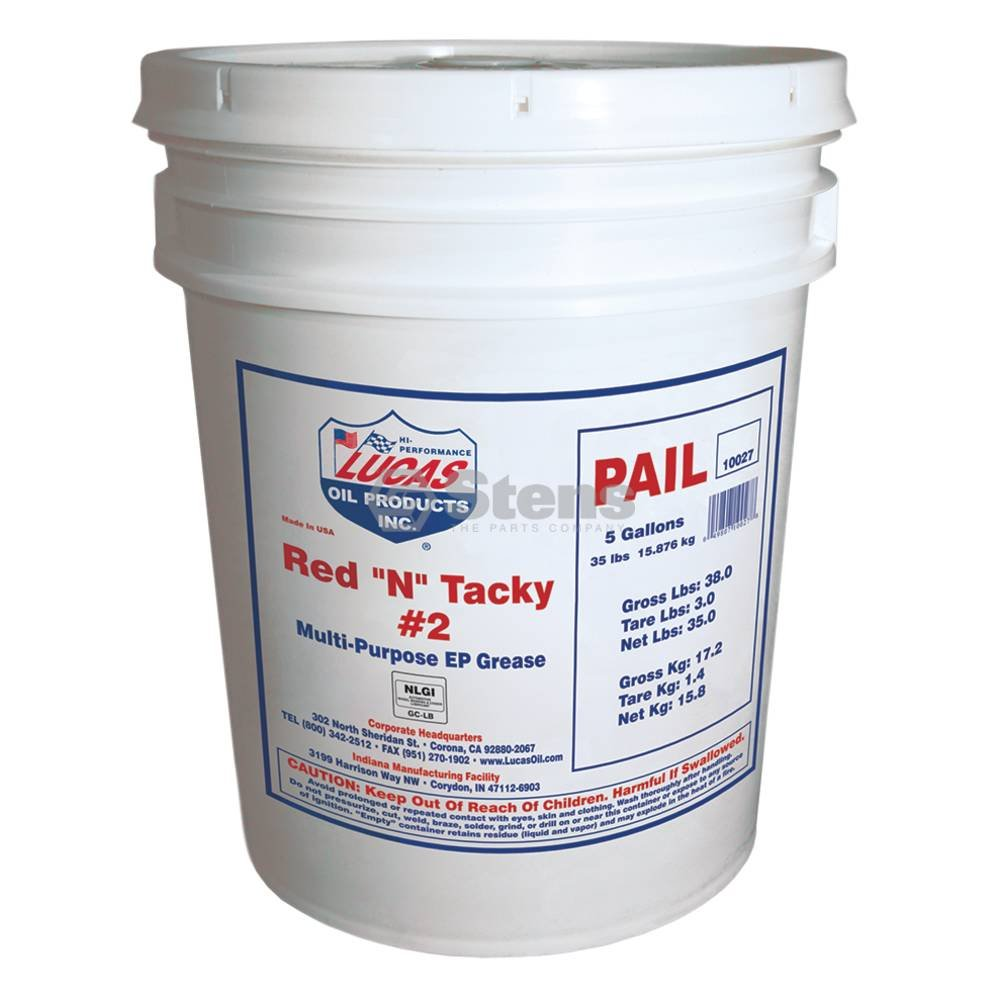 Stens 51639 Red ''N'' Tacky Grease, 35 lb Pail by Stens