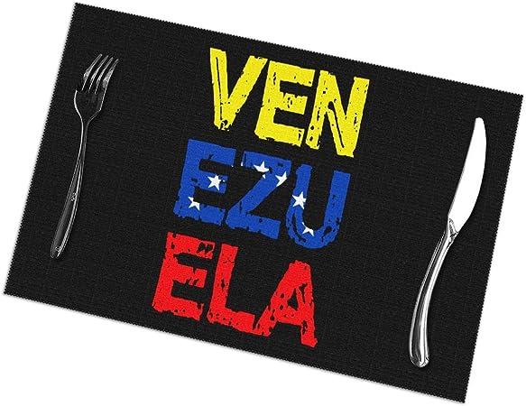 Compra Manteles de Bandera de Venezuela para Mesa de Comedor Juego de 6 tapetes de Mesa de Cocina en Amazon.es