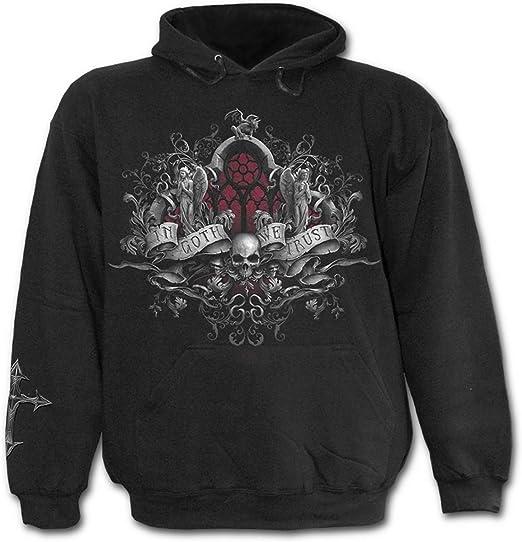 Death Robe Spiral Mens Hoody Black