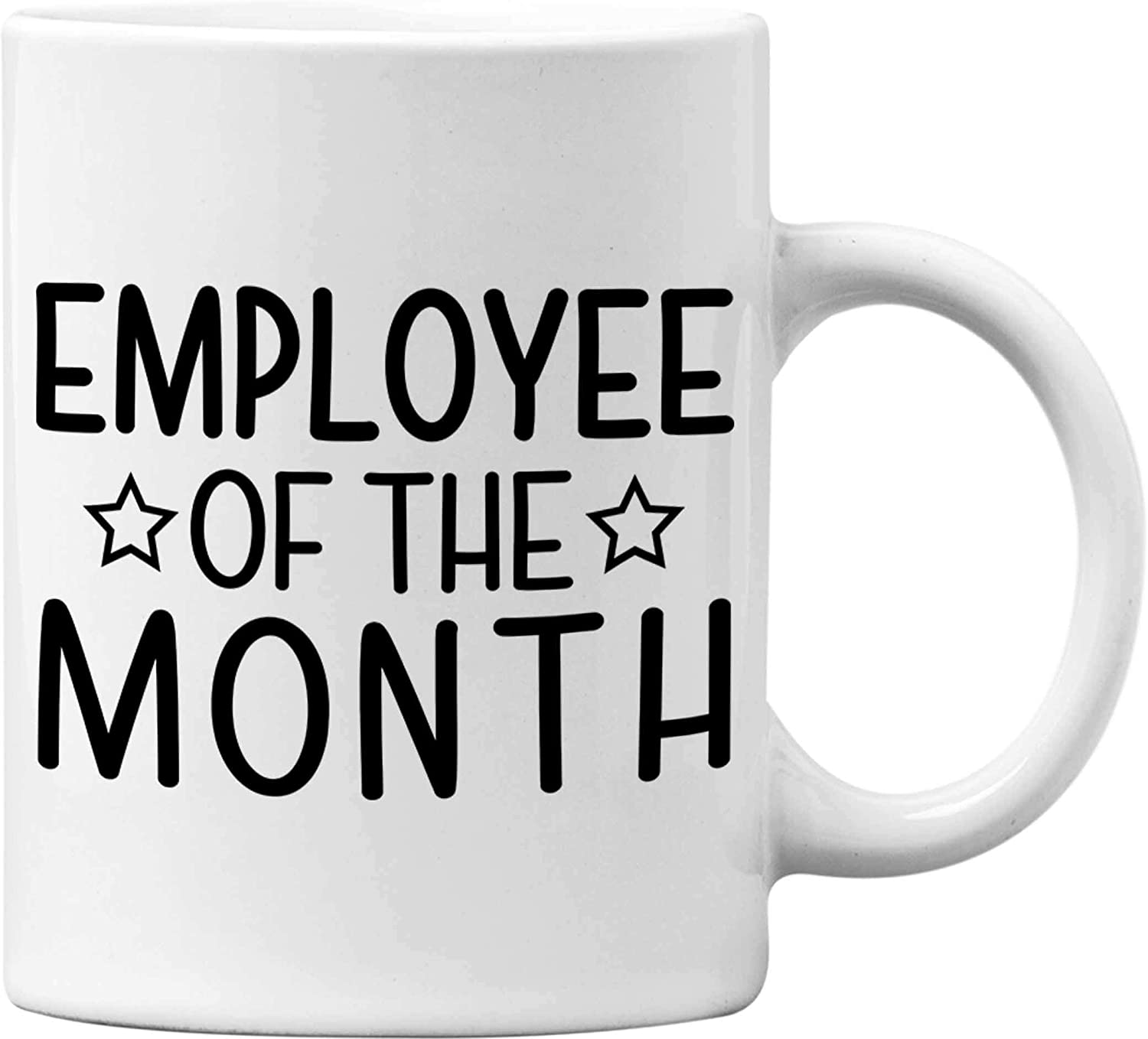 Employee Of The Month Funny White 11 Oz. Office Coffee Mug - Great Novelty Gift for Office Workers, Bosses, Co-Worker, Friends and Family by Mad Ink Fashions