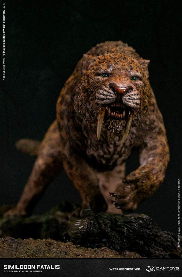 DamToys Estatua Smilodon Fatalis Wet Rainforest Ver. 28 cm ...