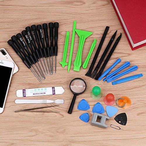 Tonsee 35 IN1 Handy Reparatur Öffnung Tools Kit Set Hebeln Schraubendreher für iPhone 7