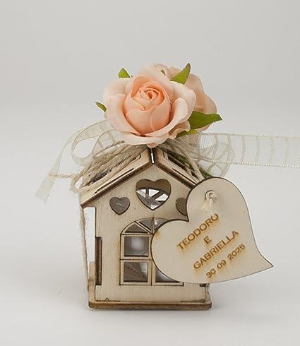 Bomboniere Matrimonio In Legno : Lotto di pezzi bomboniere casetta legno con cuore