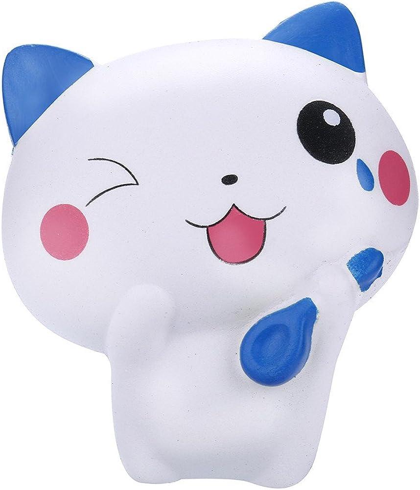 Juguetes Pegajosos,MISSWongg Gato Adorable Squishy Crecimiento ...