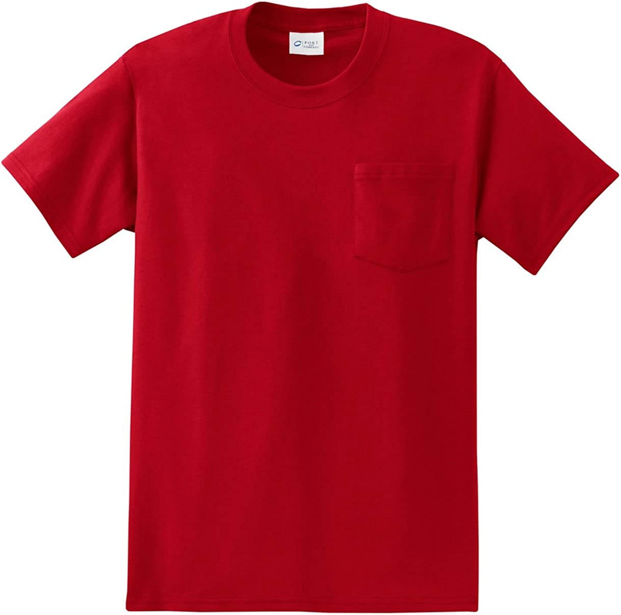 Port /& Company Mens Tall Essential T Shirt with Pocket