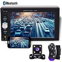 """Camecho 2 DIN Autoradio Multimédia 1080P Full HD 6.2"""" Écran tactile ACL stéréo Autoradio Audio Vidéo Lecteur MP5 Bluetooth TF USB FM avec télécommande + caméra de recul"""