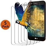 LG K20 Plus Screen Protector,LG K20 V Screen Protector,BlingFilm (5 Packs) LG K20 Tempered Glass Screen Protector [Value-Pack]