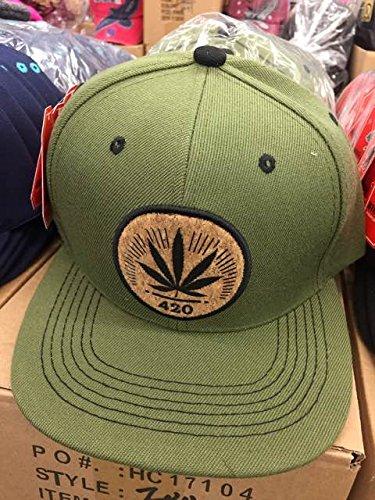 (HOT BUY) PITBULL MARIJUANA POT WEED LEAF 420 SNAPBACK HAT - - Snapback Buy Caps