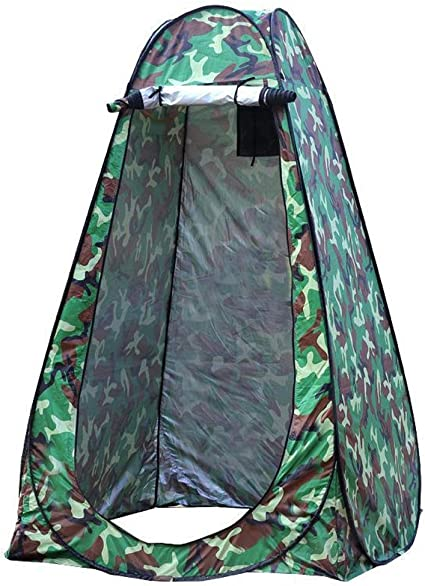 YANES SHOWER PRIVACY TENT WITH ZIP OPEN ROOF ACCESS /& SOAP SHELF NEW!