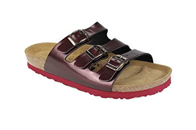 56d7fb775d80 JOE N JOYCE Paris SynSoft Soft-Footbed Sandals Bordeaux Size EU 36 - US W5