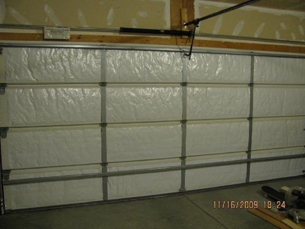 NASA TECH Reflective White Foam Core Garage Door Insulation Kit 8L x 7H