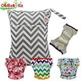 Baby Waterproof Reuseable Training Diapers Pants 3pcs, A Wet Dry Bag by Ohbabyka