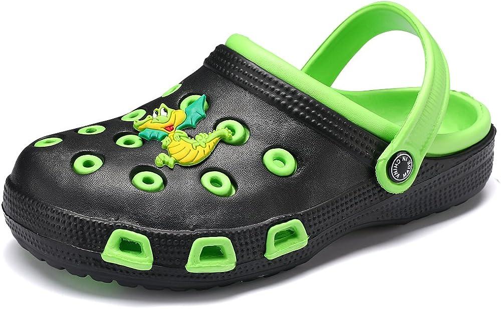 VILOCY Kid's Cute Garden Shoes Cartoon Slides Sandals Clogs Children Beach Slipper