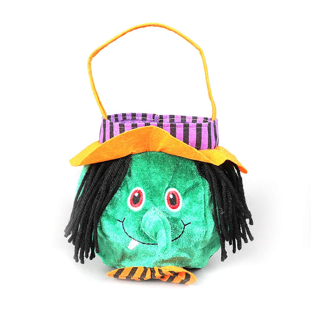 Isuper Halloween Felt Trick Or Treat Tissu Bonbons Sacs Cadeaux pour Les Enfants Chilren (sorcière)