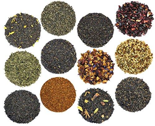 Plantation Iced Tea (Solstice Tea Traders Loose Leaf Tea Sampler, Ultimate Sampler 12 Types of Loose Leaf Tea, Rooibos, Gunpowder, Chai, and More!)