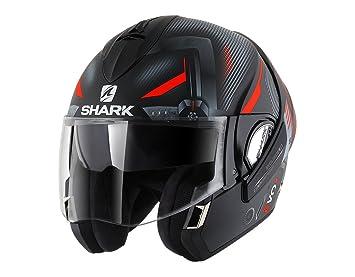 Shark Moto Casco Hark – Evoline 3 shazer Mat, Negro/Rojo, tamaño L