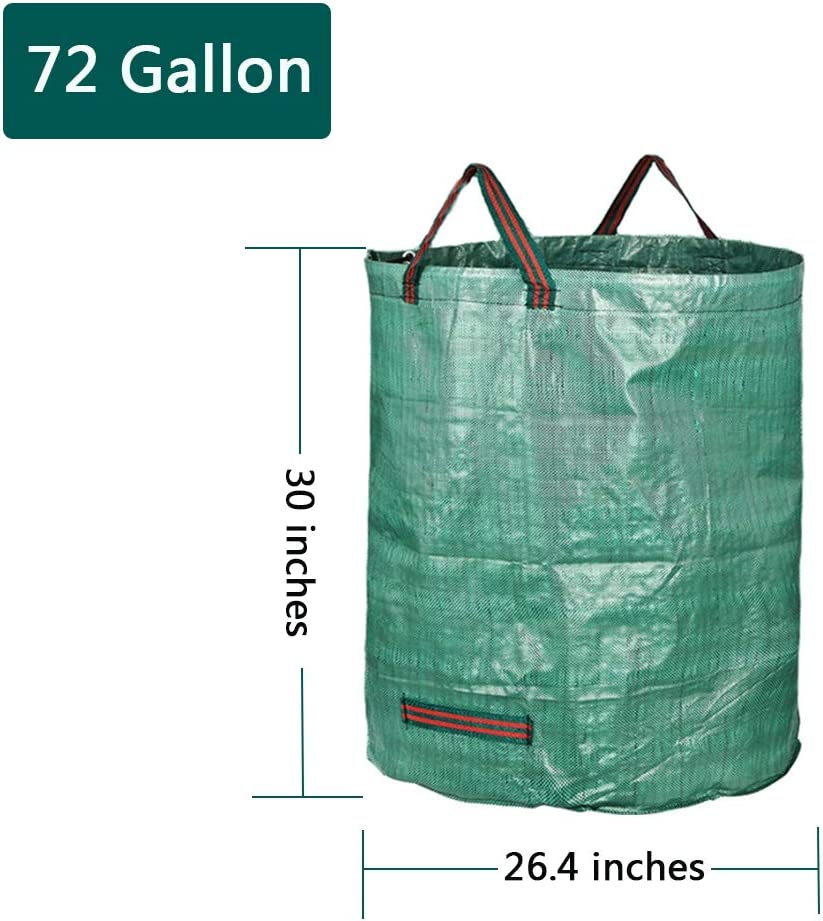 3-Pack-32 Gallon EIIORPO Garden Waste Bags 3 Pack,Durable Garden Bags 32//72//80 Gallon Leaf Bags with Handles,Reusable Yard Waste Bags for Yard//Garden//Lawn