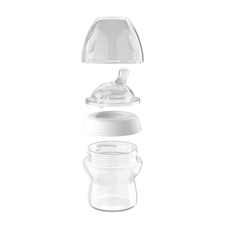 Chicco NaturalFeeling - Biberón con tetina inclinada anticólicos y flujo normal para bebé de 0m+, 150 ml