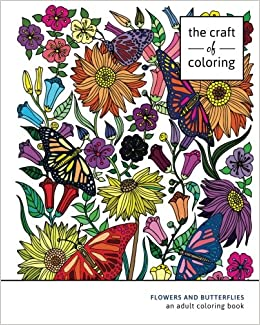 Flowers and Butterflies Adult Coloring Books for Relaxation Adult Coloring Book