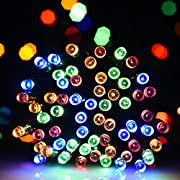 Amazon #LightningDeal 98% claimed: Litom Solar Outdoor String Lights 200LED 72.18 ft¡