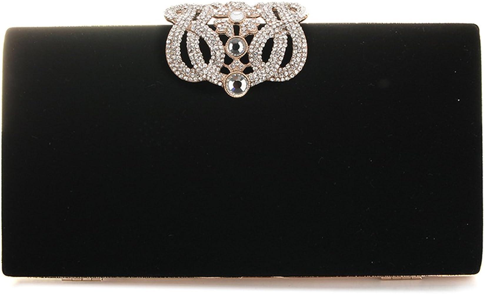 YYW Bolso de noche, diseñador de moda para mujer Cristal Diamante bolso de embrague Bolso nupcial del monedero del banquete de boda de las señoras