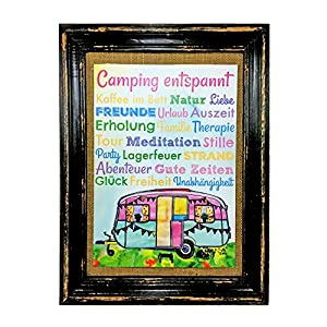 Camping entspannt. Wohnwagen Druck Poster A4 Bus Camper Caravan Geschenk AnneSvea Deko