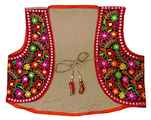 Peegli New Indian Embroidered Traditional Banjara Jacket Women Kutch Shrug Koti ()